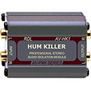 RDL AV-HK1 HUM KILLER AUDIO ISOLATION TRANSFORMER Stereo, RCA (phono) I/O, mini jack adapter cables