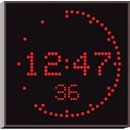 WHARTON 4900E.05.R.S.UK CLOCK 50mm red characters, surface mount, mains powered