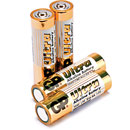 GP 15AU BATTERY, AA size, alkaline, Ultra series (pack of 4)